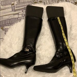 Leather fancy tall boots